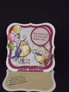 Crazy Bird Birthday by MALK3 - Cards and Paper Crafts at Splitcoaststampers