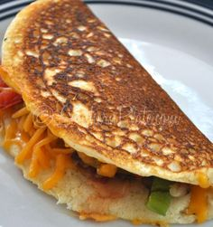 Cornbread Omelets – and the treacherous adventure of being me :) ~ http://www.southernplate.com