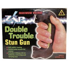 Double Trouble Stun Gun $89.95 The Double Trouble Stun Gun is like having two stun guns in one. Twice the contact -- totaling 1.2 Million Volts -- TWICE the stopping power!