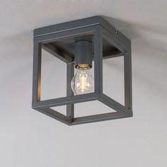 Lámpara colgante CAGE 1 gris