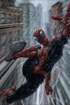 #Spiderman #Fan #Art. (Spider-Man) By: Clayton Crain. (THE * 5 * STÅR * ÅWARD * OF: * AW YEAH, IT'S MAJOR ÅWESOMENESS!!!™)[THANK Ü 4 PINNING!!!<·><]<©>ÅÅÅ+(OB4E)
