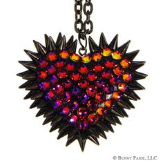 VOLCANO Pavèd & Spiked Heart Necklace by BunnyPaige. I want this! via @Phyrra