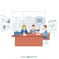 Business Meeting for Dowload Free Vector