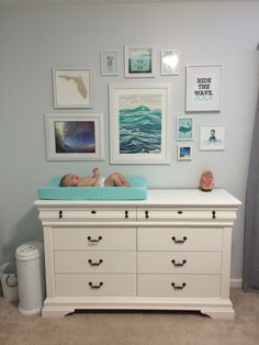 Baby boy nursery, coastal beach surf florida