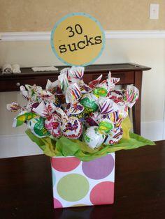 pinterest 30th birthday party ideas | One Dog Woof: 30 Sucks - Birthday gift idea