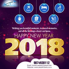 May the spirit of the season of, new year fill your heart, with serenity and peace, wish you a #HappyNewYear2018!!