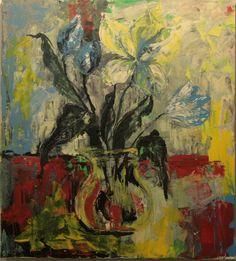 Tulips , acryl on canvas, 100x100