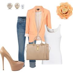 "Wish my feet could handle these shoes. ""Peach"" by jenyasimeng on Polyvore"