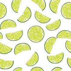 Seamless sliced lime pattern vector art illustration