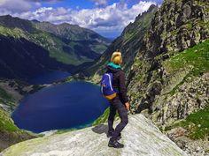 Tatra Mountains, Rysy, Poland. Widok na Czarny Staw i Morskie Oko.