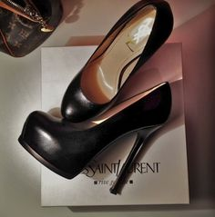 Saint Laurent Tribute Two textured-leather pumps $795