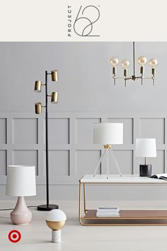 Our lamps and chandeliers shed light on modern materials, like brass, opaque glass, acrylic, real marble and reactive glaze. Find standout lighting at bright prices for every room in your home. Project 62, only at Target.