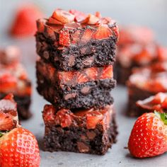 These Chocolate Covered Strawberry Brownies are a swoon-worthy and surprisingly guilt-free treat – they're gluten-free, refined sugar-free and Paleo!