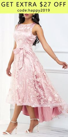Cute Casual Pink Fashion Dress for 2019 Mode High Fashion Dresses, Party Dresses For Women, Pink Fashion, Fashion Outfits, Dress Fashion, Satin Dresses, Elegant Dresses, The Dress, Pink Dress