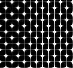 Modern Deco Black fabric by flis on Spoonflower - custom fabric White Patterns, Textures Patterns, Color Patterns, Print Patterns, Graphic Design Pattern, Pattern Art, Retro Pattern, Art Optical, Optical Illusions