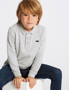 Shop this Rhinoceros Polo Shirt Months - 7 Years) at Marks & Spencer. Boy Haircuts Long, Toddler Boy Haircuts, Boys Long Hairstyles, Toddler Boys, Kids, Knitted Christmas Jumpers, Spencer, Roll Neck Sweater, Boy Poses