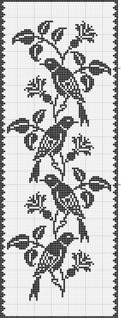 filet crochet birds Best Picture For Crochet Pattern stitches unique For Your Taste You are looking for something, and it is going to tell you. Cross Stitch Bird, Cross Stitch Charts, Cross Stitch Designs, Cross Stitch Embroidery, Embroidery Patterns, Cross Stitch Patterns, Crochet Curtains, Tapestry Crochet, Crochet Motif