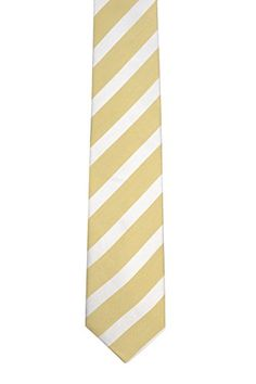 Linen Slim necktie - White stripes on golden yellow linen base - Notch SALADIN Notch Vd6vybqO3
