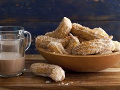 Mexican Crullers (Churros) recipe from Daisy Martinez via Food Network