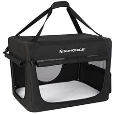 SONGMICS Soft Sided Dog Crate Pen Kennel Foldable Pet House with Self-locking Zipper Mesh Panel Black UPPC60H @@@ You can check out this great product. (This is an affiliate link and I receive a commission for the sales)