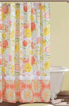 """""""Meadow"""" shower curtain by Dena™ Home - A colorful floral print blooms on a cheery shower curtain.. Available at Nordstrom."""