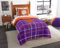NCAA Clemson Tigers Soft & Cozy Twin Comforter Set by Northwest