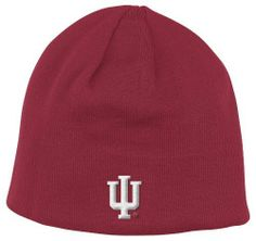 48e9ba93d NCAA Indiana Hoosiers Reversible Knit Hat, One Size Fits All,Red adidas.  $12.83