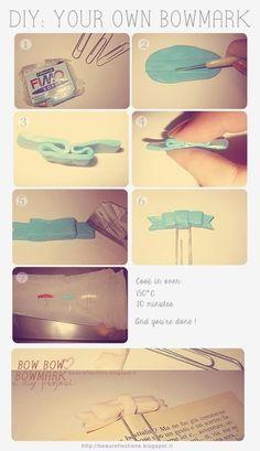 DIY bookmark... Too freaking cute! ^.^