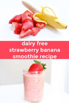 healthy kid foods, smoothie recipe, fruit smoothie, kid friendly smoothie, dairy free smoothie, strawberry banana smoothie, kid friendly snacks, kid friendly breakfast, easy breakfast ideas, easy snack ideas, mom blog, mom blogger, mom bloggers, mom blogs, family friendly dishes, recipes, recipe, food blog, food bloggers