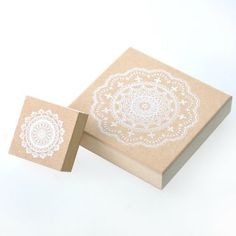 Amazon.com: YazyCraft Decorative Wooden Stamps - 2 pcs (Large and Small) - Lace Doilies Cling Stamps: Arts, Crafts & Sewing