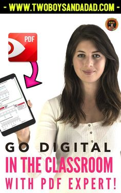 Include this handy little App for your iPad in your arsenal to go digital. Expert PDF can be used on your iPad to annotate, highlight, underline any text or image. If you project your iPad, you have an instant Smartboard! Check out my blog post and rea