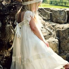 Tea Princess Flower Girl Dress, for a boho wedding Wedding Bells, Boho Wedding, Dream Wedding, Wedding Day, Rustic Wedding, Bohemian Weddings, Wedding Girl, Party Wedding, Tea Party