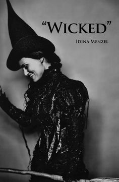 Broadway Musical Wicked Poster ~ Idina Menzal ~ Elphaba ~ My all time favorite musical! Amazing show!
