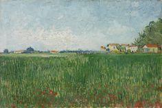 Винсент Ван Гог - Фермерские дома на пшеничном поле близ Арля (1888)
