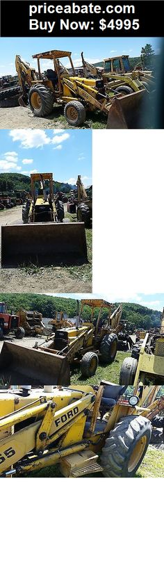 Heavy-Equipments: Ford 555 Loader Backhoe RUNS & WORKS 201 Dsl P/S TLB Tractor New Holland - BUY IT NOW ONLY $4995