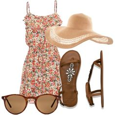 """Beach Floral"" by sundawi on Polyvore"