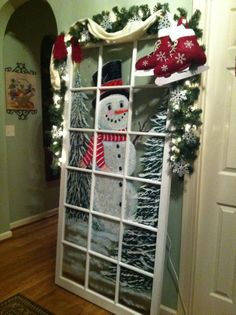 painted snowman pictures   Painted snowman door   ~*~ Christmas ~*~