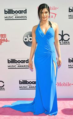 Priyanka Chopra from Billboard Music Awards 2016 Red Carpet Arrivals  The Quantico star stuns in her blue dress before presenting on stage.