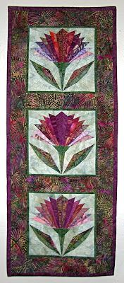 wall quilt  with thistles