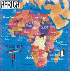 Africa map by Pippa Curnick