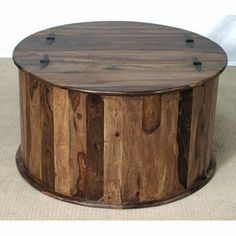 Gorgeous Round Wood Table Looks Like It Uses Strips Of Diffe Kinds And