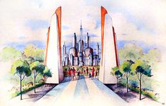"""1953 Concept of """"Tommorowland"""""""