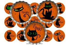 Free Stuff: Halloween Cool Cats Bottle Cap Images (emailed) - Listia.com Auctions for Free Stuff