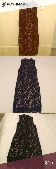 Black lace dress! Black lace dress medium. Brand new. In great condition from forever 21. Gives nice figure decent night out dress! Dresses Midi