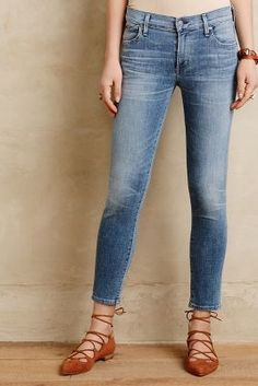 Citizens of Humanity Avedon Ankle Skinny Jeans Light Denim #anthrofave