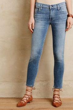 Citizens of Humanity Avedon Ankle Skinny Jeans Light Denim #anthrofave