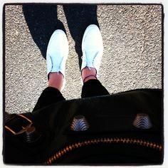 Summer sun fashion mode balanciaga white shoes