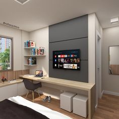 Ideas Home Office Quarto Masculino For 2020
