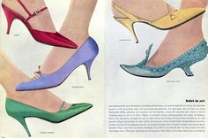 Durer (Shoes) 1962 Charles Jourdan, Roger Vivier, Christian Dior, Savetier d'Aya Archive documents French Clippings | Hprints.com