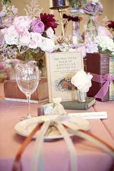 This Bride and Groom were set up by the Bride's grandparents and the culmination is this fabulous Louisville Wedding. Amanda Jacobs and Jaclyn Thomas Designs crafted this gor. Storybook Wedding, Wedding Book, Wedding Ideas, Wedding Centerpieces, Wedding Decorations, Book Flowers, Floral Event Design, Decoration Table, Used Books